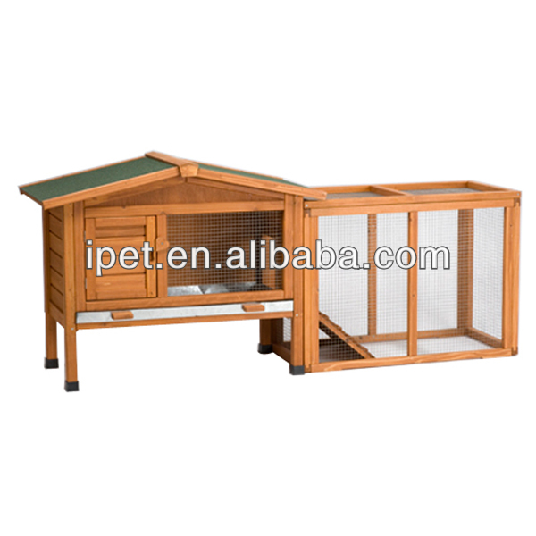 Cheap Wooden rabbit house for sale with extra run RH006