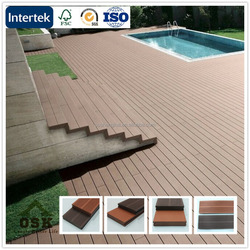 New 140*25mm european outdoor WPC wpc(wood plastic composites) plastic slatted flooring manufacture in China with great price