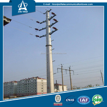 China factory 110KV power transmission line steel pole
