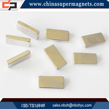 Super Strong Sintered Customized Industrial neodymium magnet tube gold