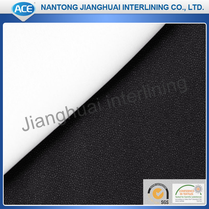 100%Polyester Tricot Micro PES Fusible Woven Interlining&Lining Fabric Garment Accessories