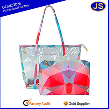 high quality waterproof pvc beach bag with zipper