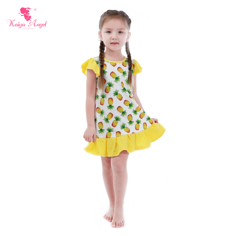 7999324f5a502 newest summer baby girl clothes pineapple print girls dress fancy dresses  for baby girl