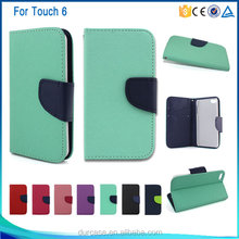 leather flip case for iPod Touch 6,cell phone case cover for iPod Touch 6