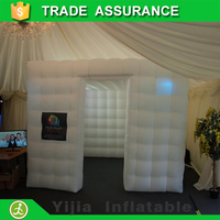 China best selling high quality rental cheap white cube tent inflatable led photo booth for sale