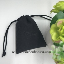 Custom Black Suede Pouch for Nail Clipper , Black Suede Pouch