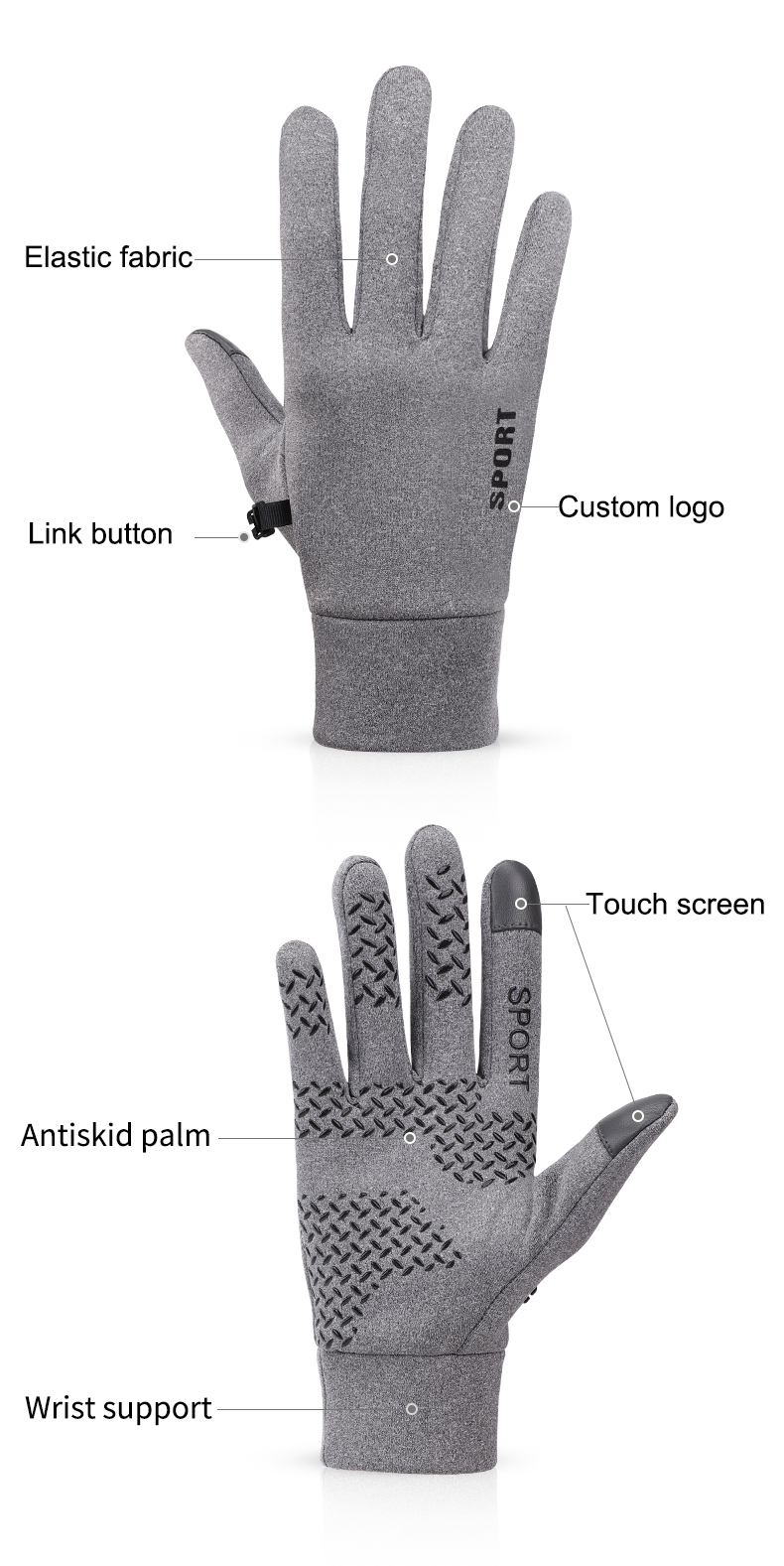 Cheap sport winter thermal call waterproof safety protection riding bicycle gloves