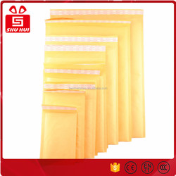 Yellow jiffy bags eco-friendly mailing bubble bags kraft paper recycled colorful bubble bags