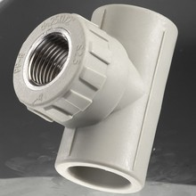 Plastic ppr pipe fittings female thread tee comply with standard GB/T 18742