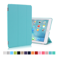 Factory Outlet Smart Magnetic Strip Leather Flip Cover Case for iPad Pro 9.7""
