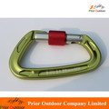 New Design Climbing carabiner 22KN Safe and Cheap D Type rock climbing gear In stock