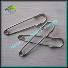 Apparel Design Supplies 50mm Glossy Plated Silver Color Steel Dressmaking Safety Pin