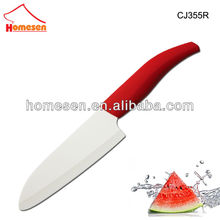 "HOT 5.5"" Kyocera plastic handle santoku ceramic knife"