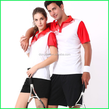 The lastest design tennis wear and mini table tennis set or lawn tennis sports wear and couples sport wear made in China