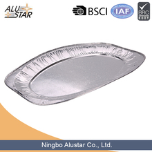 High quality large size food aluminum foil trays for food packaging