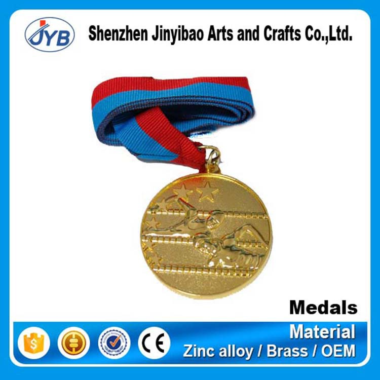 custom die cast award gold sport swimming medals and trophies