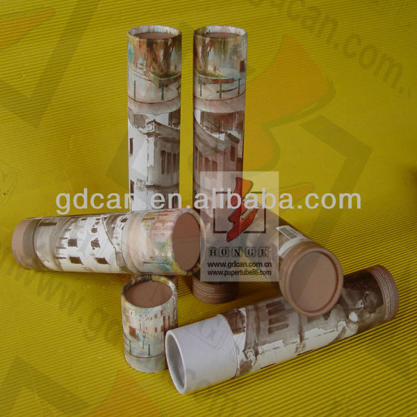 Hot!!! eco packaging paper pencil tube matching pattern printed