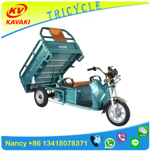 Heat Preservation For Food KAVAKI Electric Tricycle Food Cart With Cargo Box