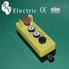 industrial 4 mushroom/2 position selector/push flush button control box switch for lifting / Remote Control Switches