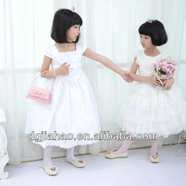 cream lace bandage white flower girl dresses with train