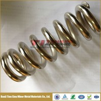 Nickel Plated Alloy Titanium Springs with Grade 5 and Beta C for Racing Bike Rear Shocks