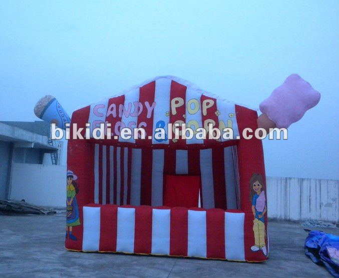 inflatable candy floss tent,rent inflatable small tent K5010