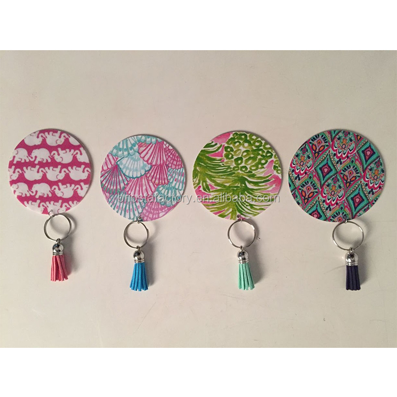 Personalized Lilly Inspired Keychain With Tassel