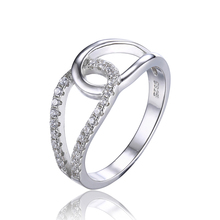 JewelryPalace 925 Sterling Silver Teardrop Band Ring Interweave Fashion Design Fine Jewelry Women Wedding Ring
