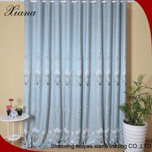 Made in China European style polyester linen look indian embroidery curtain