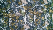 real tree hunting camouflage silk fabric
