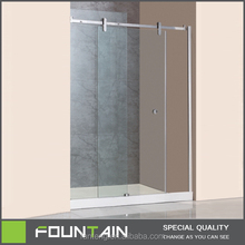 Tempered Glass Enclosed Shower Bath Combo with Hinge Door