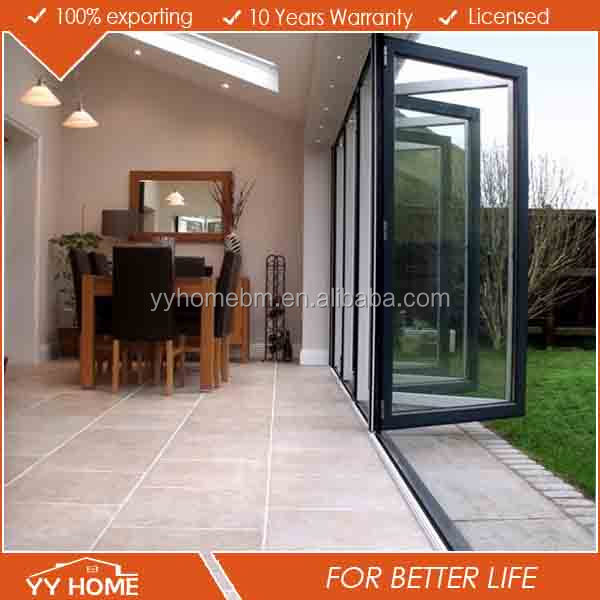 YY Home manufacturer cheap price comercial aluminum folding mosquito screen door