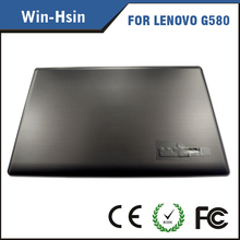 100% new laptop top housing for lenovo g580 top case with bezel
