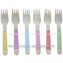 Customized Printing Wooden Disposable Cutlery For Party Wedding
