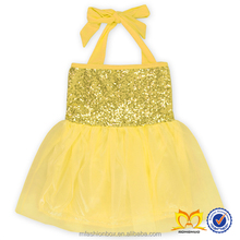Girl Sequin Dresses Princess With Cotton Halter Party Frock Dress For Baby Girls Girls Princess Puffy Dresses