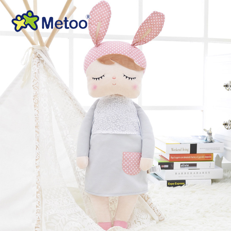 Angela Rabbit Girl Metoo Doll Kawaii Plush Stuffed Animal Cartoon Kids Toys for Girls Children Baby Birthday Christmas Gift