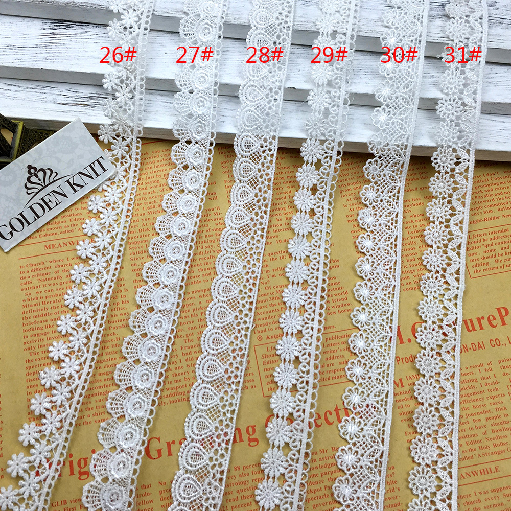 2cm Width High Quality Elegant Korean Lace Trim Embroidery