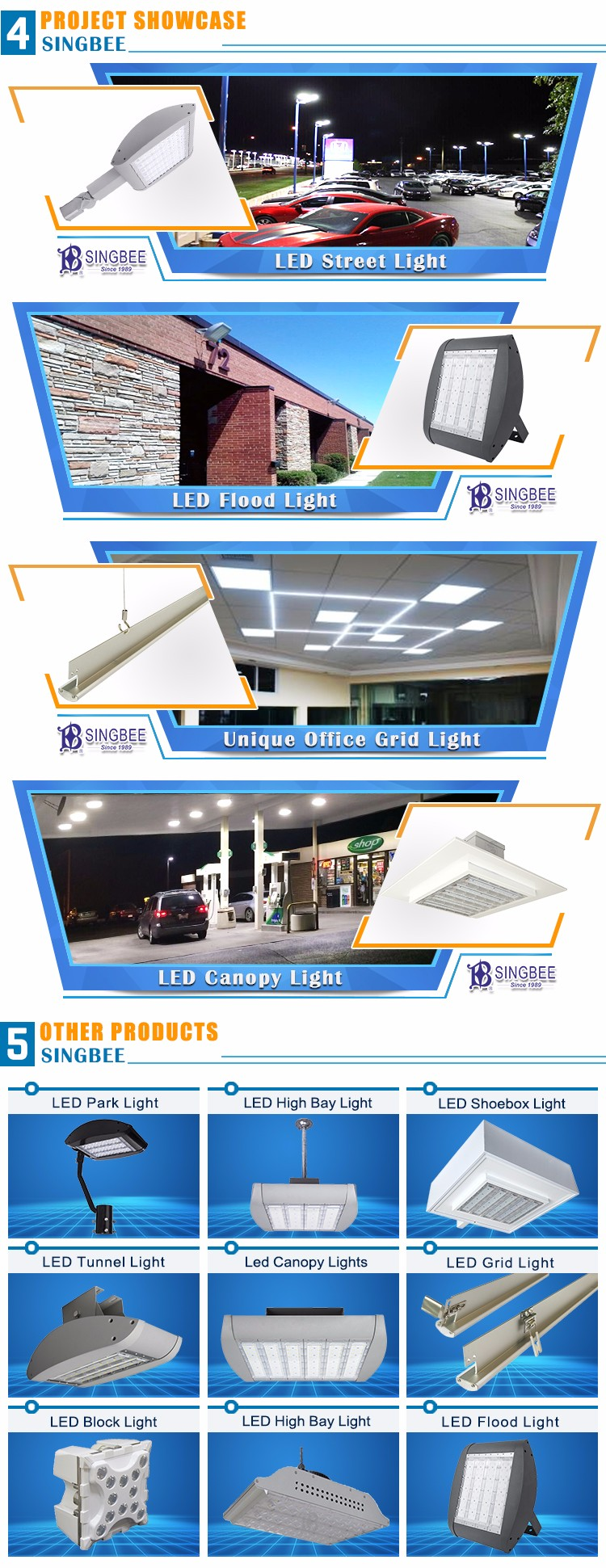 7Years Warranty high power outdoor Ip66 sunlight led park light 200W