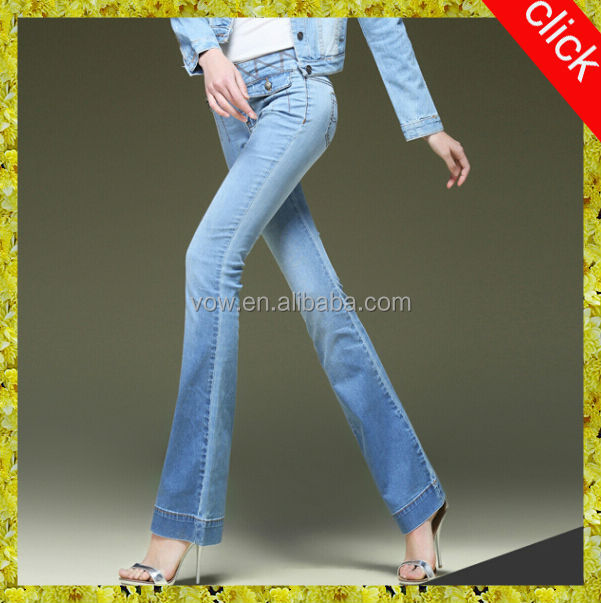 2014 new style flares women jeans, sexy light blue long trousers women in tight jeans pictures please denim ladies jeans