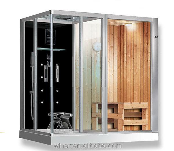 2016 di lusso 2 4 persona acrilico e legno mini sauna a casa e vapore stanza combinato per la - Mini sauna per casa prezzi ...