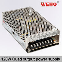 Reliable Factory 120W Quad output switching power supply high voltage adjustable dc
