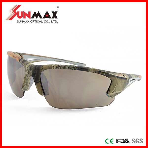custom logo printed lenses polarized sunglasses, new fashionable design flat lens glasses, protective computer glasses for man