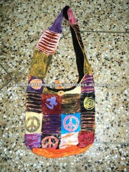 patchwork fashion bags peace sign new 2014