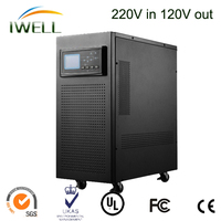 American widely used pure sine wave online 240v/120v 10Kva UPS without battery