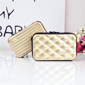 Mini ABS PC Hard Case Large Capacity Cosmetic Bag Fashion Makeup Travel Toiletry Bag