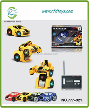 2015 New Kids Toys! 777-321 Wireless Can Be Out Of Robot Shape 2CH Rc Car