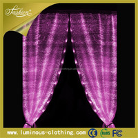 fibre optic lighting luminous LED decoration wedding lighted curtain