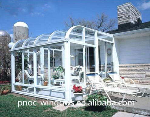 Aluminium Conservatory Sound Insulation Glass Sunroom For