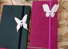 Elastic strap PU leather embossed notebook