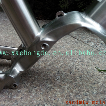 titanium MTB bike frame with rear rack Ti bike frame with Pinion gear box titanium e-bike frame custom